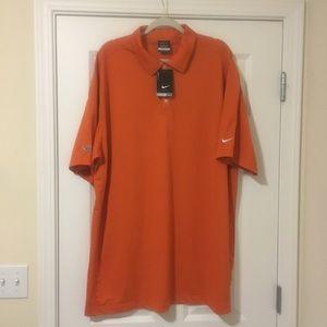 New 3XL Nike Dri Fit Orange Polo Casual Shirt